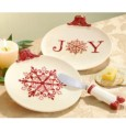 Holiday Presents 2 Tidbit Plates & Spreader