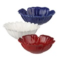 Grasslands Road American Bloom Red-White-Blue Flower Mini Dip Bowls
