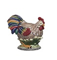 J Willfred by Sadek Roosters Hen Figurine Multi-Color