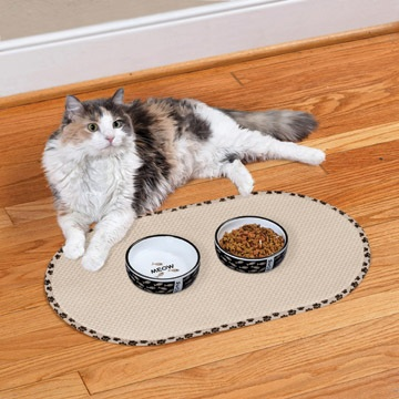 envision home kitchen pet bowls small mat for cats
