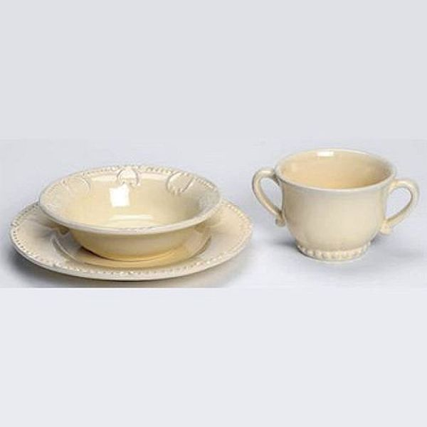 Skyros Designs Isabella Yellow Creme Child Baby Dishes Set : skyros designs dinnerware - pezcame.com