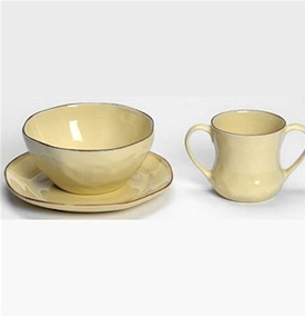 Skyros Designs Cantaria Almost Yellow Child Dish Set & Skyros Designs Cantaria Child Dishes Cup-Bowl-Plate