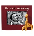 Pink Me and Mommy Frame with Giraffes