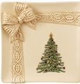 Deck the Halls Accent Plate with Bow Candy Dish