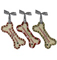 Grasslands Road Pets Dog Bone Ornaments in 4-Styles