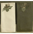 Grasslands Road Evergreen Pine Cones Napkins Set Guest Towels