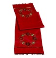 Let Nature Sing Table Runner with Wreath from Grasslands Road