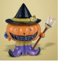 Halloween All Hallows Candy Bowl & Spoon Pumpkin-Witch