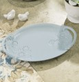 Melody Songbirds Serving Platter Oval Blue