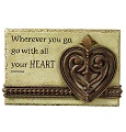 Grasslands Road Words of Life Plaque Go With Heart