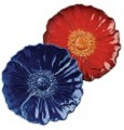 Grasslands Road Petals American Bloom Plates Blue and Red