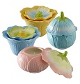 Grasslands Road Petals Pastels Flower Candle Pots Set