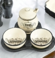 Art of Entertaining Condiment Server Bowls & Tray