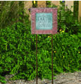 Verdigris Tuscan Garden Plaque with Stakes