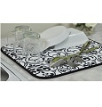 Envision Home Damask Black Dish Drying Mat