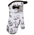 Jessie Steele Cafe Toile Oven Mitt Black and White