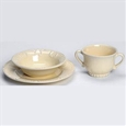 Skyros Designs Isabella Yellow Creme Child Baby Dishes Set