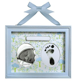 Grasslands Road Baby Footprint and Photo Frame in Blue