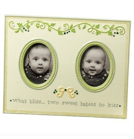 Baby Twins Frame | Double Photo | Twin Bliss | Grasslands Road Peas in a Pod