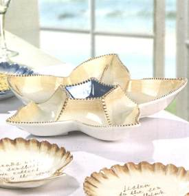 By the Sea Starfish Serving Dish Sectioned Server