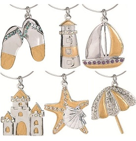 By the Sea Wine Glass Charms Set-6