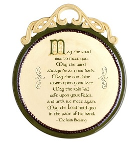 Celtic Heritage Plaque The Irish Blessing
