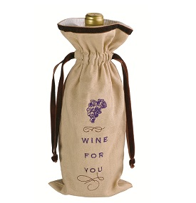 Gift of Thanks Fabric Wine Gift Bag by Grasslands Road