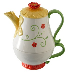 Grasslands Road Petals Tea Pot and Cup Daffodil