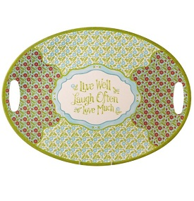 Grasslands Road Meadow Melamine Live-Laugh-Love Platter