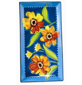 Petals Tray Large Hand Painted Floral