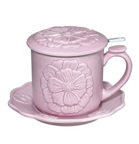 Andrea by Sadek Peony Pink Tea Cup Covered