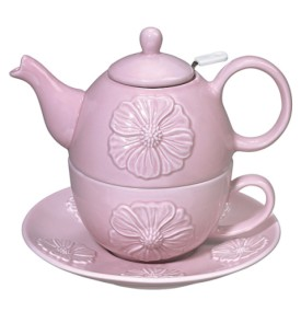 Andrea by Sadek Peony Pink Tea for One Teapot