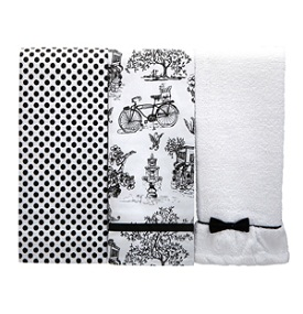 Jessie Steele Cafe Toile Kitchen Towel Trio