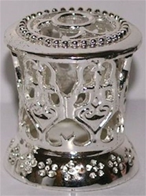 Fragrance Lamp Replacement Crown MINI Silver Hearts-Dots