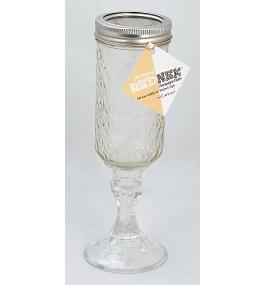 Carson rednek champagne flute set of 2 mason jar stemmed glasses - Stemmed mason jars ...
