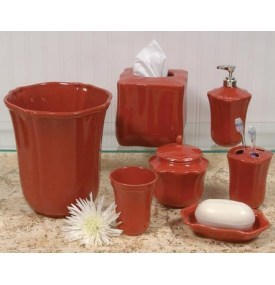 Skyros designs royale paprika red bath accessories from for Red bathroom accessories